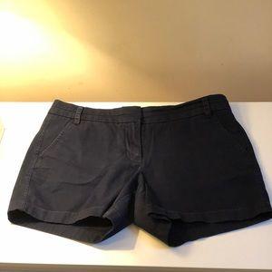 "J.Crew Navy 3"" chino shorts size 10"